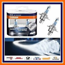 2X Osram H4 Nightbreaker Unlimited +110% More Light 12V Low beam u high