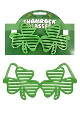BRAND NEW IRISH SHUTTER SHAMROCK GLASSES ST PATRICKS DAY PARTY EVENT NOVELTY