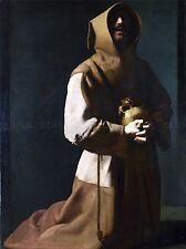 ZURBARAN SAINT FRANCIS IN MEDITATION ONE ART PAINT PRINT 908OMA