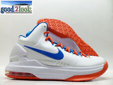 NIKE ZOOM KD V KEVIN DURANT WHITE/PHOTO BLUE-ORANGE SIZE MEN'S 12 [554988-100]