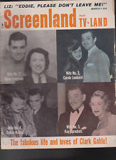 Screenland March 1961 Clark Gable Liz Taylor Nancy Kwan Natalie Wood