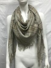 BLANKET SCARF SQUARE OVERSIZED ALL SEASON LIGHT WRAP SCARF PLAID A COLOR TAUPE