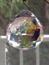 Beautiful 20mm AB Swarovski Crystal Disco Ball Prism Suncatcher Sparkles!