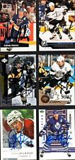 Six-Piece Lot SIGNED HOCKEY CARDS