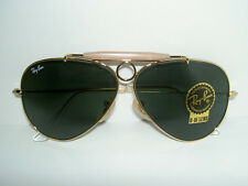 New RAY BAN Sunglasses AVIATOR  SHOOTER Gold  RB 3138 001 Glass G-15 Lenses 58mm