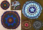"LARGE SELECTION - 16"" ROUND EMBROIDERED FLOOR PILLOW CUSHION THROW Cover Seating"