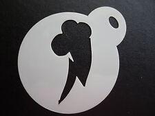 LASER CUT SMALL Cutie Mark alleggerimento cookie di progettazione, le imbarcazioni & faccia Pittura Stencil