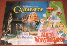 Candleshoe + Alice In Wonderland Walt Disney UK Original Quad Film Poster 1976