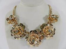 Thalia Sodi Gold-Tone Multi-Flower Collar Necklace