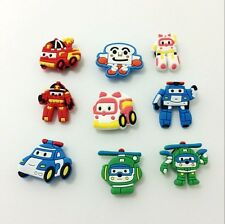 Poli Police Cars Charms for Bracelets/Bands/Croc/Jibbitz 9pcs New on sale