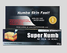 30g Super Numb lidocaine numbing cream painless tattoo piercings waxing laser Dr