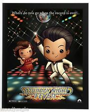 FRAMED SATURDAY NIGHT FEVER MOVIE POSTER SIGNED  JOHN TRAVOLTA BEE GEES DISCO