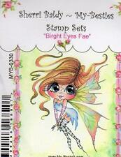 NEW My-Besties Clear cling Rubber Stamp BRIGHT EYES FAE FAIRY GIRL free usa ship