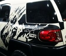 Mud splash immitation side vinyl decal sticker gloss or matt fits to fj cruiser