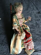 Lady with Rose Porcelain Artist Figure One of A Kind by Swedish Maria Ahren