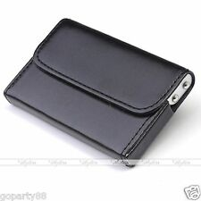Mens Luxury Black Pocket Aluminum  PU Leather Business Credit Card Holder Wallet