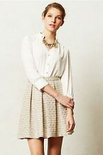 ANTHROPOLOGIE NWT Pemberton Blouse Top Shirt by Moulinette Soeurs Ivory Sz 2 $88