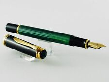 1986 PELIKAN SOUVERAN M400 STRIPED TRANSPARENT GREEN BARREL MADE IN WEST GERMANY