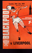 Blackpool Football Club Official Programme v Liverpool July 29 1969