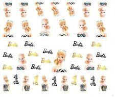 Nail Art Decals Transfers Stickers Barbie (DA519)