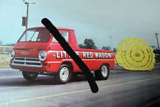 """Little Red Wagon"" Mid 60s Dodge Pick Up ""Wheelstander"" PHOTO!"