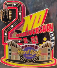"Hard Rock Hotel SINGAPORE 2012 2nd Anniversary PIN ""2"" Guitar HRH Facade #69836"