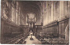 Royaume Uni - cpa - CAMBRIDGE - King's college chapel, chair west