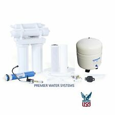 REVERSE OSMOSIS HOME DRINKING WATER FILTER SYSTEM 4 STAGE 35 GPD Made in USA