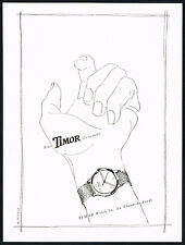1940's Vintage 1947 Timor Watch Co. Mid Century Modern Greminger Art Print AD