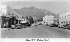 Photo. 1952-3. Hope, B.C Canada. Wallace St - autos