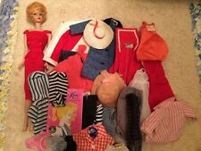 Barbie:  VINTAGE  Blonde BUBBLECUT BARBIE Doll! Marked Japan & Clothes Lot