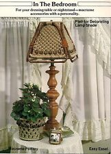 Lamp Shade & Pot Cover Patterns - Craft Book: #1938 Macrame Innovations