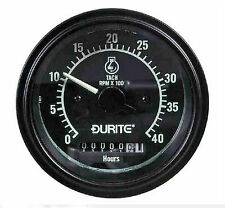 TACHOMETER with HOURS METER - DURITE 12v/24v 4000RPM, Alternator sensing THD040A