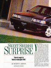 1995 Volvo 960 Sedan Original Car Review Print Article J511