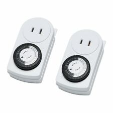 NEW IKEA pack 2 Wall Outlet timer 24 hr lights lamp SAVE AC electronics indoor