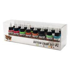 World Famous Color Set #1 Authentic Tattoo Ink 16 Bottle Set 1oz