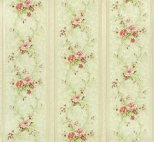 Tapete Chateau 4 AS Création Satintapete 95514-1 Streifen Floral creme rosa (3,7