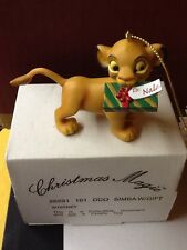 """Grolier Disney Christmas Magic Collectible Ornament """"SIMBA"""" #161 with Box NEW"""