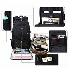 Computer Laptop Backpack for 17 Inch Black Large Storage Pocket Bag Case Travel