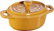 Staub Ceramica 6 pz. Set Mini Cocotte ovale giallo senape 11 cm Piatto da forno