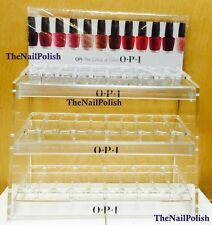 OPI Clear TableTop Rack Nail Polish Acrylic Display Hold 90 Colors Empty Shelf