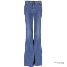 Stella McCartney Blue Mid-Wash Denim Wide Leg Flared Jeans W28
