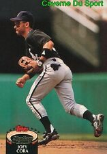 535  JOEY CORA  CHICAGO WHITE SOX TOPPS BASEBALL CARD STADIUM CLUB 1992