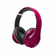 Cocoon Pink Wireless Bluetooth Headphones with Microphone, SD Card Slot, 3.5mm