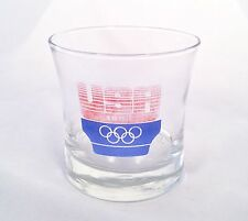 1984 USA Olympic Games Glass Drinking Tumbler Red White & Blue Free Shipping