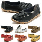 Womens Casual Comfort Cut Out Leather Loafers Flat Shoes Moccasin Sandals