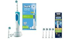 Braun Oral-B 670 Cross Action Electric Toothbrush + 4 Extra Heads EB50-4 *New*