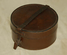 A well polished leather collar box, could be used as a  jewellery box