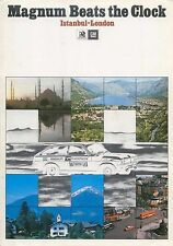 Vauxhall Magnum Beats The Clock Istanbul-London 1974 Original UK Sales Brochure