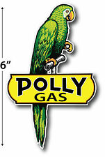 RIGHT FACING POLLY GASOLINE LUBSTER PROJECT DECAL GAS OIL CAN PUMP STICKER